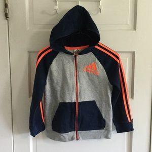 Adidas Zip Up Hoodie Boys 7